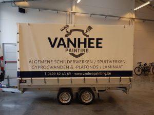 Aanhangwagen Vanhee Painting